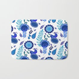 Blue Garden Bath Mat