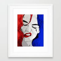 harley Framed Art Prints featuring Harley by Num3ersDesign