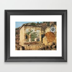 Spatial Collapse Framed Art Print