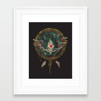dream catcher Framed Art Prints featuring Dream Catcher by Hector Mansilla
