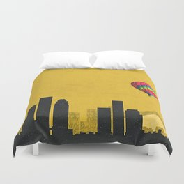 los angeles coldplay Duvet Cover