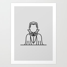 Count Dracula (Grey Background) Art Print