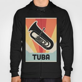 Vintage Style TUBA Poster Hoody
