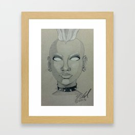 Punk Storm Framed Art Print