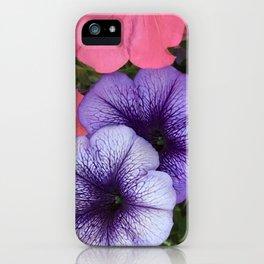 Purple Petunias iPhone Case