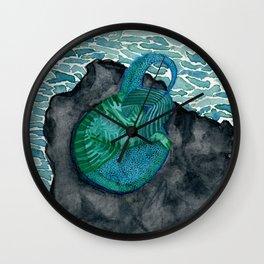Sleeping purrmaid Wall Clock