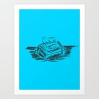 reassurance Art Prints featuring reassurance. by thom mirem
