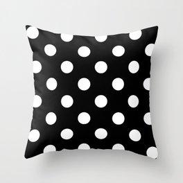 Polkadot (White & Black Pattern) Throw Pillow