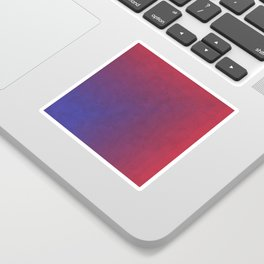 Abstract Rectangle Games - Gradient Pattern between Dark Blue and Moderate Red Sticker