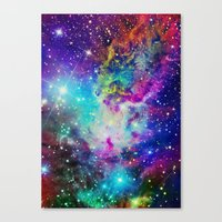 nebula Canvas Prints featuring Fox Nebula by Starstuff