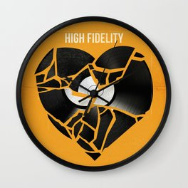 High fidelity art movie inspired Wall Clock