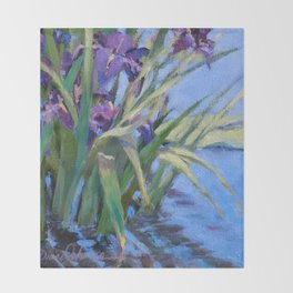 Sun Day—Iris Throw Blanket