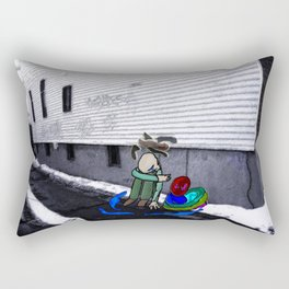 Corner Alley Rectangular Pillow