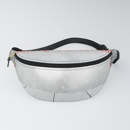 Snowy Merry Christmas Fanny Pack