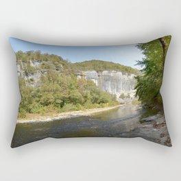 On the Buffalo River at Roark Bluff, No. 2 Rectangular Pillow