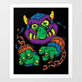 My Pet Monster Art Print