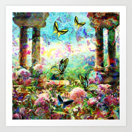 ALL THINGS COME ALIVE AGAIN Art Print