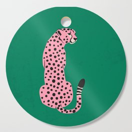 The Stare: Pink Cheetah Edition Cutting Board