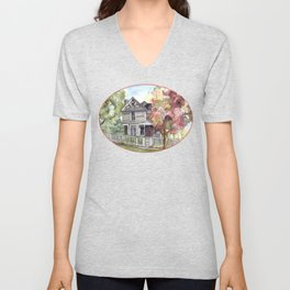 Springtime in the Country Unisex V-Neck