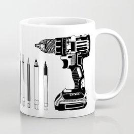 Art Power Tools Drill Bit Set Doodle Coffee Mug