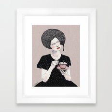 Nina in black Framed Art Print