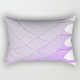 Leaves Purple Rectangular Pillow