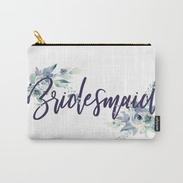 Bridesmaid Watercolour Carry-All Pouch