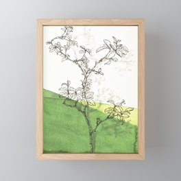rose branch in spring Framed Mini Art Print