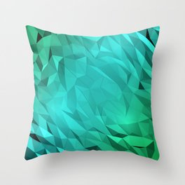 I Love Low Poly 3 Throw Pillow