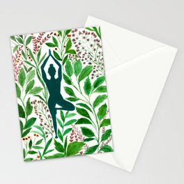 Yoga Tree Pose Stationery Cards