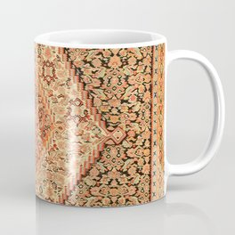 Senneh  Antique Kurdistan North West Persian Kilim Coffee Mug