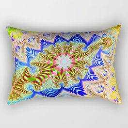 Colourful assymetric fractal patterns Rectangular Pillow
