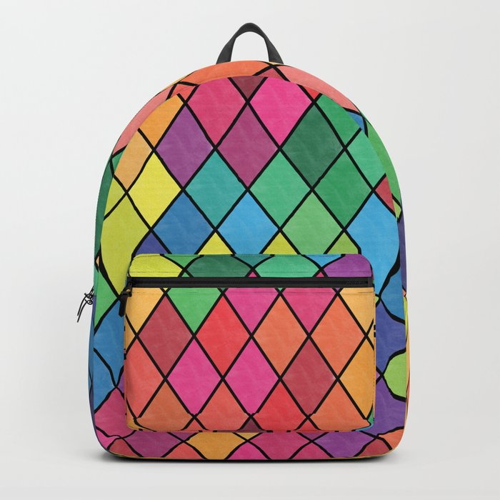 Lovely geometric Pattern X Backpack
