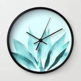 Aqua Solar Agave Wall Clock