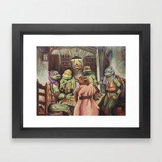 The Pizza Eaters Framed Art Print