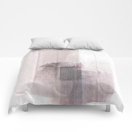 Blush Pink Minimalist Abstract Painting Comforters