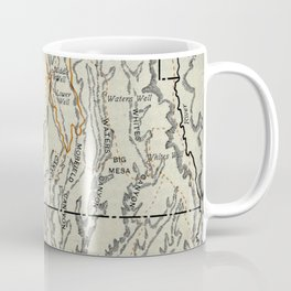 Vintage Mesa Verde National Park Map (1919) Coffee Mug