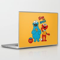 elmo Laptop & iPad Skins featuring Elmo & Cookie Fan Art by gabriela