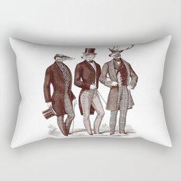 Gentlemen in the Woods Rectangular Pillow