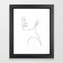 Girly Portrait Framed Art Print