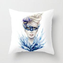 Ice Masquerade Throw Pillow