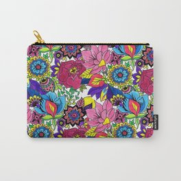 Floral Wallpaper by Sandip Carry-All Pouch