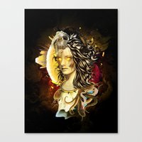 Canvas Prints featuring Mage by RIZA PEKER