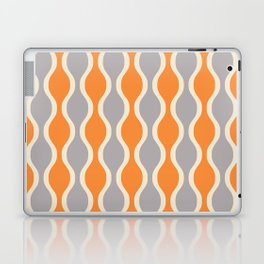 Classic Retro Ogee Pattern 852 Orange and Gray Laptop & iPad Skin