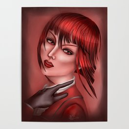 Madame in Red Poster