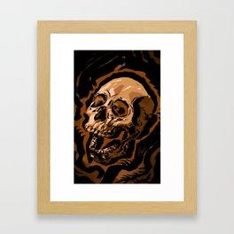 Ink Skull Framed Art Print