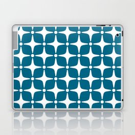 Mid Century Modern Star Pattern Peacock Blue 2 Laptop & iPad Skin