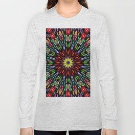 Kaleidoscope Made From Flowers Long Sleeve T-shirt