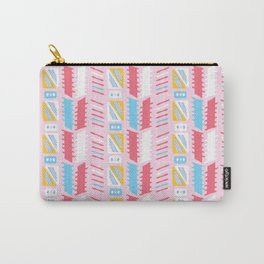 Memphis Style Geometric Abstract Seamless Vector Pattern Girly Pink Carry-All Pouch