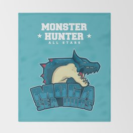 Monster Hunter All Stars - Moga Sea Dogs Throw Blanket